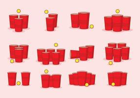 Icona di birra Pong vettore