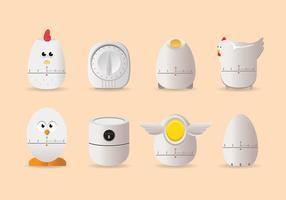 Vettore del temporizzatore dell'uovo del pollo