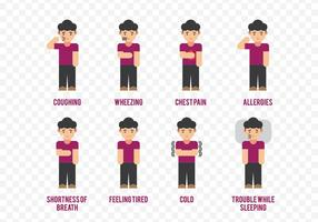 sintomi di asma personaggio dei cartoni animati