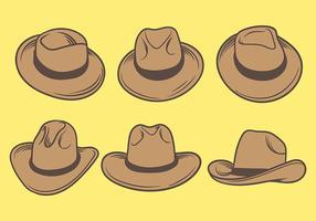 vettore di icone di cappelli gaucho