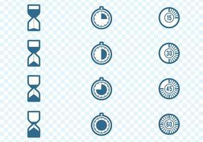 Set di icone di timer vettore