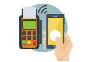 Illustrazione di vettore di pagamento di NFC
