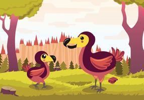 illustrazione di vettore del fumetto del dodo