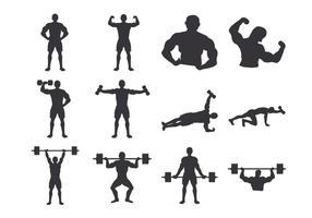 corpo del bodybuilder vettore