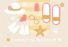 Illustrazione vettoriale estate gratis