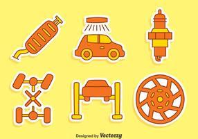 Vettori di elementi di auto carini