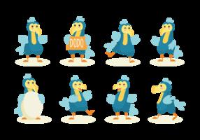 vettore del fumetto del dodo