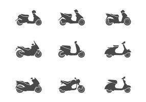 vettore dell'icona di scooter