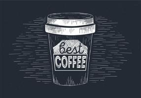 Illustrazione disegnata a mano del caffè di vettore