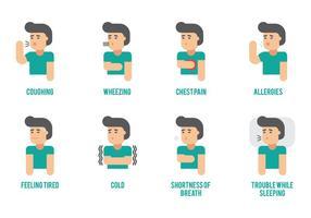 Elementi di infografica di asma