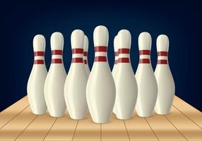 birillo da bowling vettore