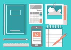 Elementi di Office Design piatto vettoriali gratis