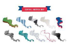 Vettore della mappa dell'America Centrale