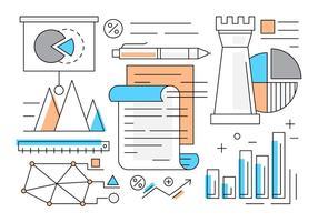 Elementi vettoriali di infografica affari gratis