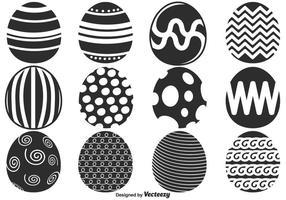 Vector le uova di Pasqua per la stagione primaverile