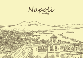 Vettori di Napoli disegnati a mano libera