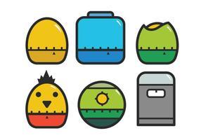 Set di icone del timer dell'uovo vettore