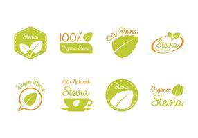 Etichetta e logo Stevia vettore
