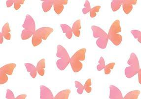 Reticolo senza giunte della farfalla dell'acquerello vettore