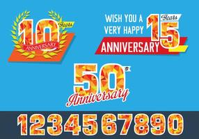 Disegno di celebrazione di anniversario poligonale