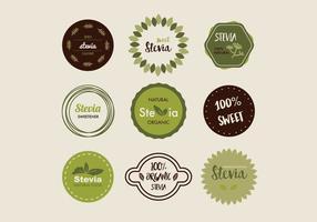 Distintivi Stevia vettore