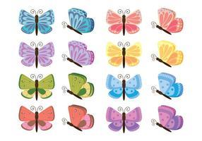 vettore di cartone animato mariposa