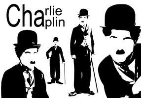 sagoma di Charlie Chaplin vettore