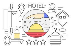 Icone di hotel lineari vettore