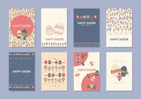 Vettori di tag e carte regalo di Pasqua
