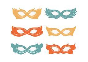 Collezione di maschere mascherate funky vettore