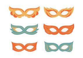 Collezione di maschere da festa mascherate vettore
