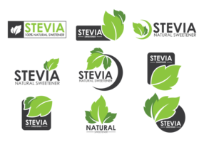 vettore di etichette di stevia