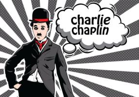 Illustrazione di Charlie Chaplin vettore