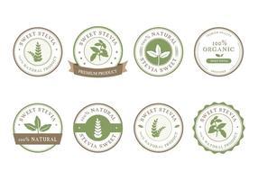 vettore di etichetta di stevia