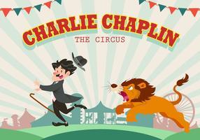 Charlie Chaplin presso il circo vettoriale