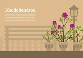 Vettore libero del giardino del rododendro