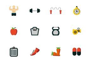 Vettori di icone di fitness salute