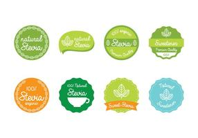 Etichetta Stevia vettore