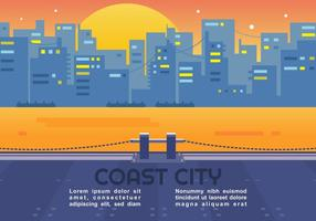 Vettore di città costiera