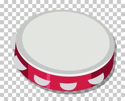stile cartone animato tamburello isolato su sfondo trasparente
