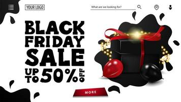 vendita venerdì nero e settimana di sconti