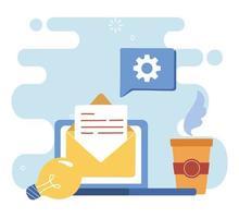 concetto di comunicazione digitale via e-mail
