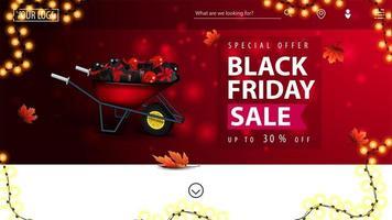 offerta speciale, banner di vendita venerdì nero vettore