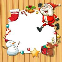 cornice natalizia con oggetti natalizi