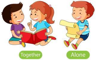 parole opposte con insieme e da solo