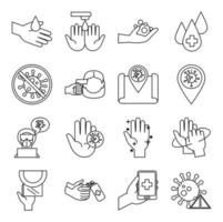 set di icone di prevenzione coronavirus