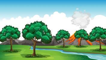 sfondo scena natura all'aperto vettore