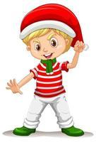 ragazzo carino che indossa costumi natalizi personaggio dei cartoni animati