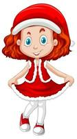 ragazza carina nel personaggio dei cartoni animati di Natale costume