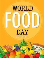 banner della giornata mondiale dell'alimentazione